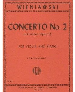 Wieniawski Henryk Concerto 2 in d minor Op. 22. Violin and Piano. by Ivan Galamian. International